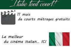 """Italie Tout Court!"", i cortometraggi italiani online"