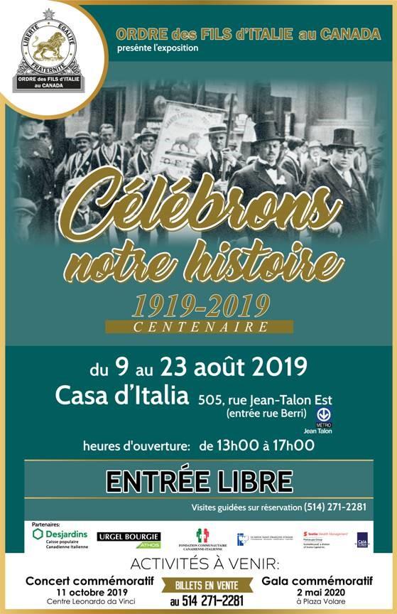 """Mostra """"Cent' anni ― Ordine Figli d'Italia 1919-2019"""""""
