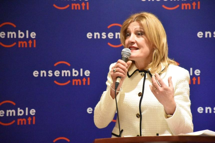 Angela Gentile candidata di Ensemble Montréal a Saint-Léonard