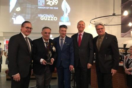 """Vincenzo Guzzo """"Personalità dell'anno 2019 della CIBPA"""
