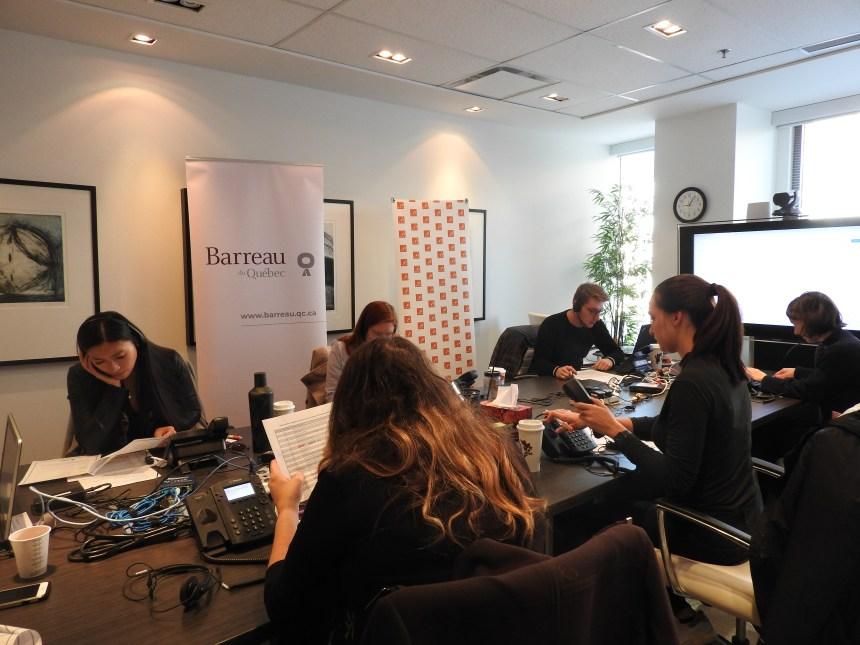 "La Clinica giuridica telefonica gratuita del ""Jeune Barreau de Montréal (JBM)"