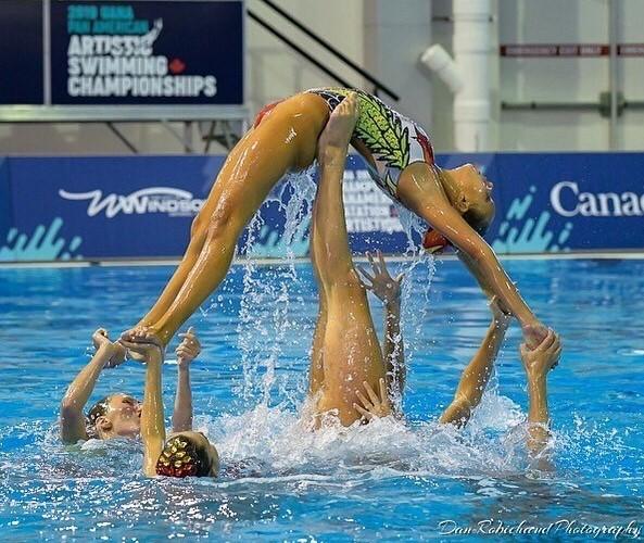 Kiara Quieti nella squadra nazionale canadese di nuoto sincronizzato