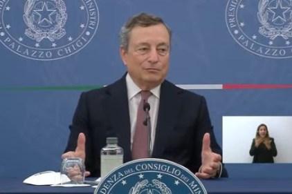 Draghi: il Governo va avanti