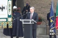 Draghi a L'Aquila per inaugurare il Parco della Memoria