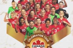 La tournée della nazionale canadese femminile di calcio
